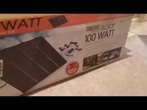 Harbor Freight Magnum Thunderbolt 100 Watt Solar Panels