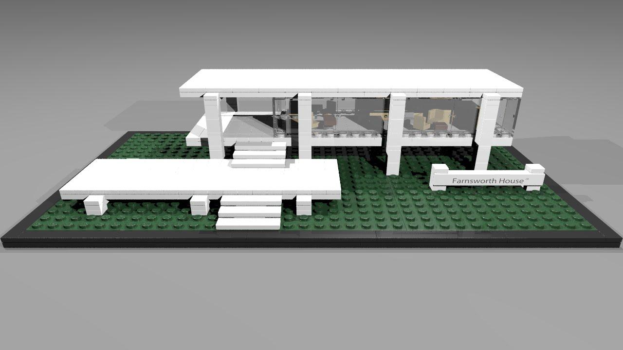 21009 lego architecture farnsworth house youtube
