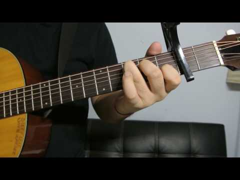"""Justin Bieber - """"Down To Earth"""" How to Play Guitar (Easy!! Guitar Tutorial!!)"""
