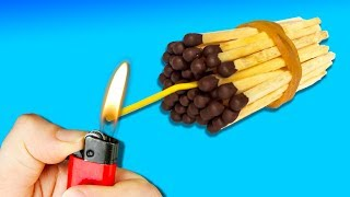 14 AWESOME HACKS WITH MATCHES AND LIGHTERS  YOU SHOULD TRY