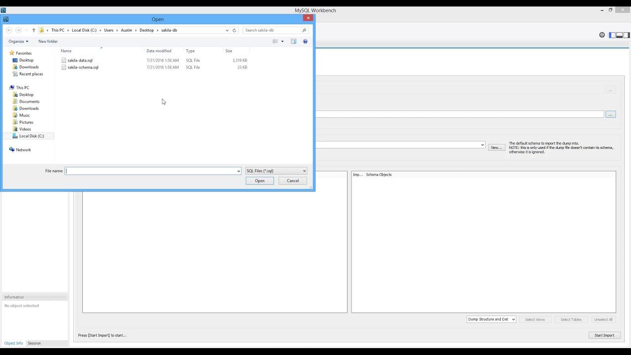How To Upload Movie Database  Sakila  In Mysql   Hd