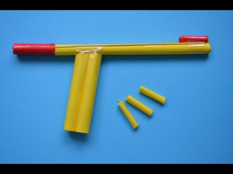 Como hacer Pistola de Papel que Dispare   Armas Caseras Fáciles - juguete de papel