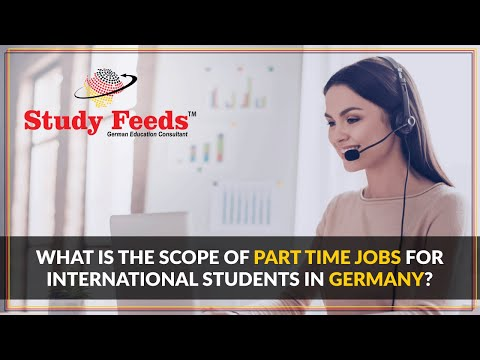 What is the scope of part time jobs for international students in Germany?
