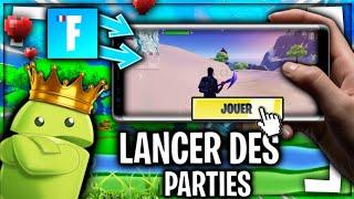 JOUER & LANCER DES PARTIES SUR FORTNITE POUR APPAREIL ANDROID NON COMPATIBLE ! (3ème TUTO)