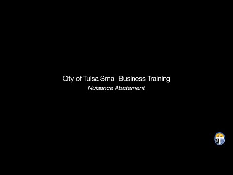 Small Business Training: Nuisance Abatement