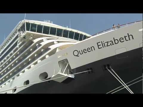 Cunard: HRH The Princess Royal Visits Queen Elizabeth