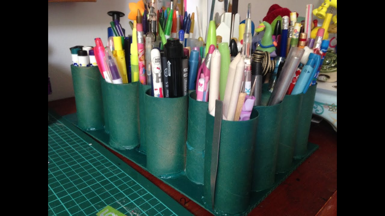 Organizador de escritorio r pido con rollos de papel - Organizador de papeles ...