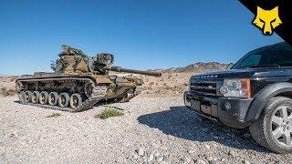 Tank Atışı İçin Land Rover Parçaladı