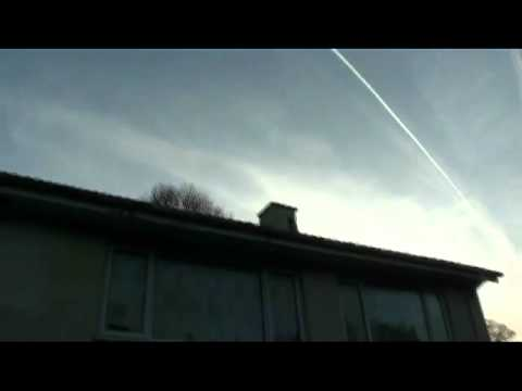 Isle Of Man UK,March 30th '12 Chem Trails (Middle Irish Sea)