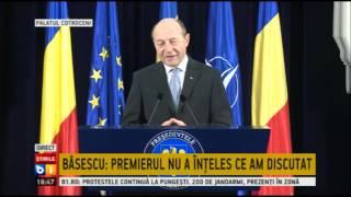 Traian Basescu: Ponta a crezut ca vorbim despre buget
