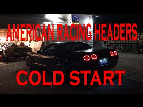 C5 Corvette Z06 First Start Up W/ American Racing Headers !