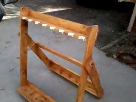 Home made Portable Field Rifle Rack - YouTube