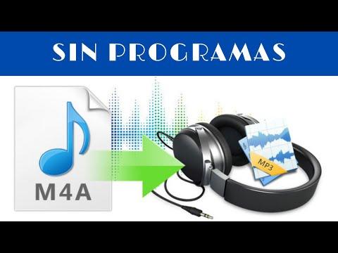 COMO CAMBIAR DE AUDIO MPEG-4 (.M4A) A MP3 | SIN PROGRAMAS 2020
