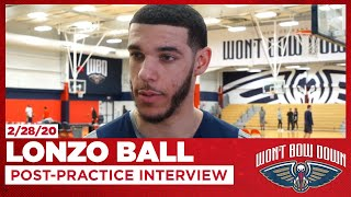 Lonzo Ball On Pelicans Growing Chemistry, Cavs Improvements | New Orleans Pelicans