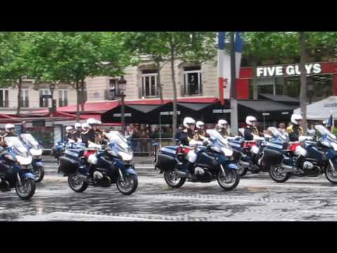 New French President Emmanuel Macron on The Avenue des Champs-Élysées