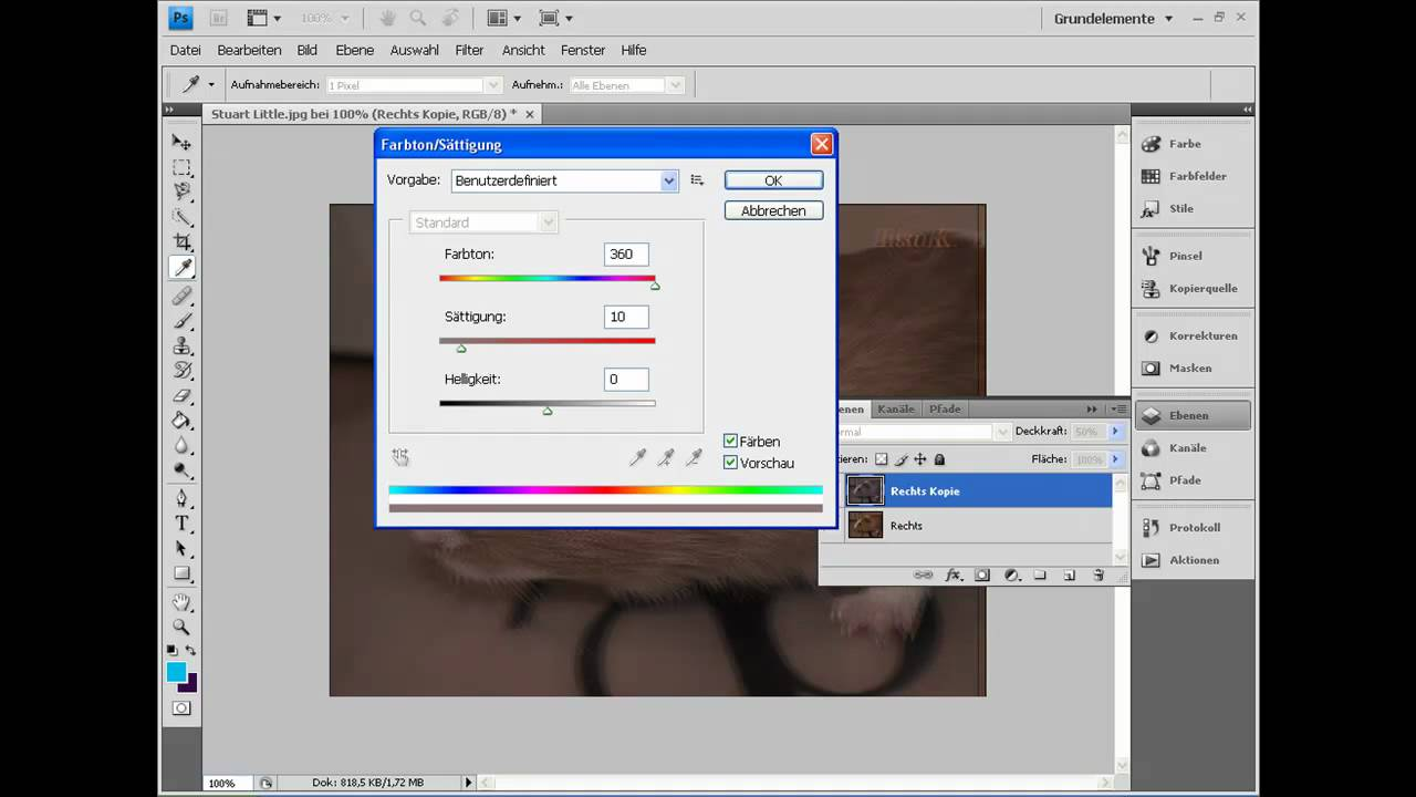24012010 3d Bild Erstellen Photoshop Rot Blau Youtube
