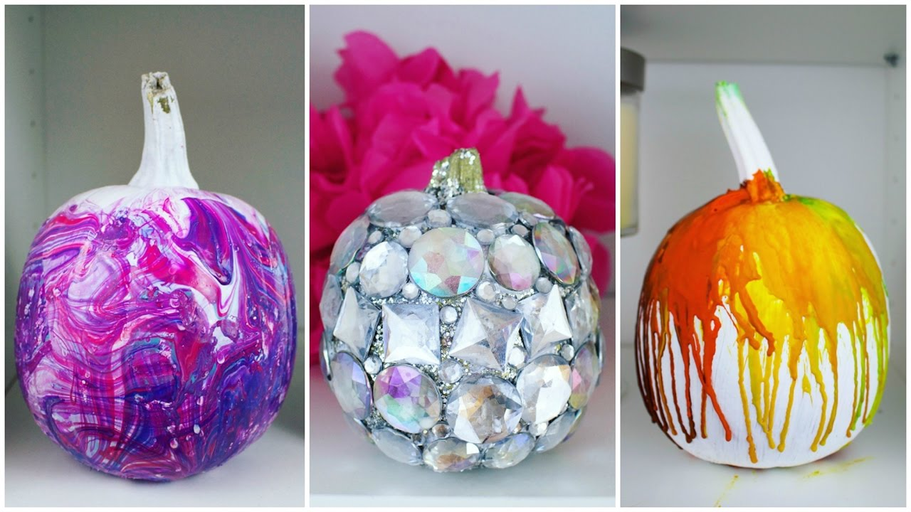 cheap easy diy pumpkin decorating ideas 2 pinterest inspired youtube - Decorating Pumpkins For Christmas Ideas