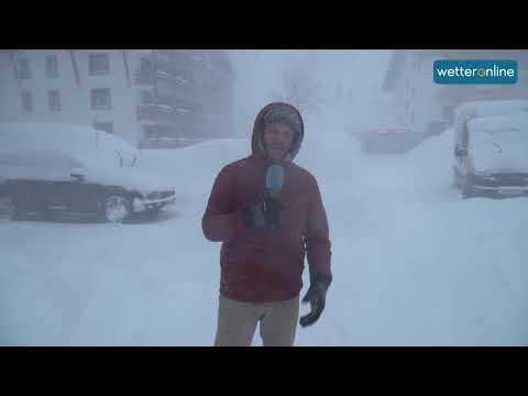 Alpen: Jetzt auch noch Schneesturm (14.01.2019)