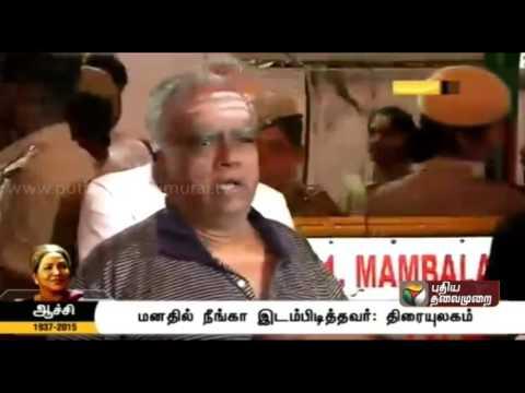 Pyramid Natarajan pays tribute to Aachi Manorama