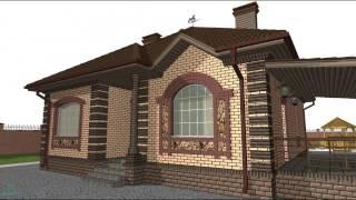 Оптимальный проект компактного одноэтажного дома  A-037-ТП