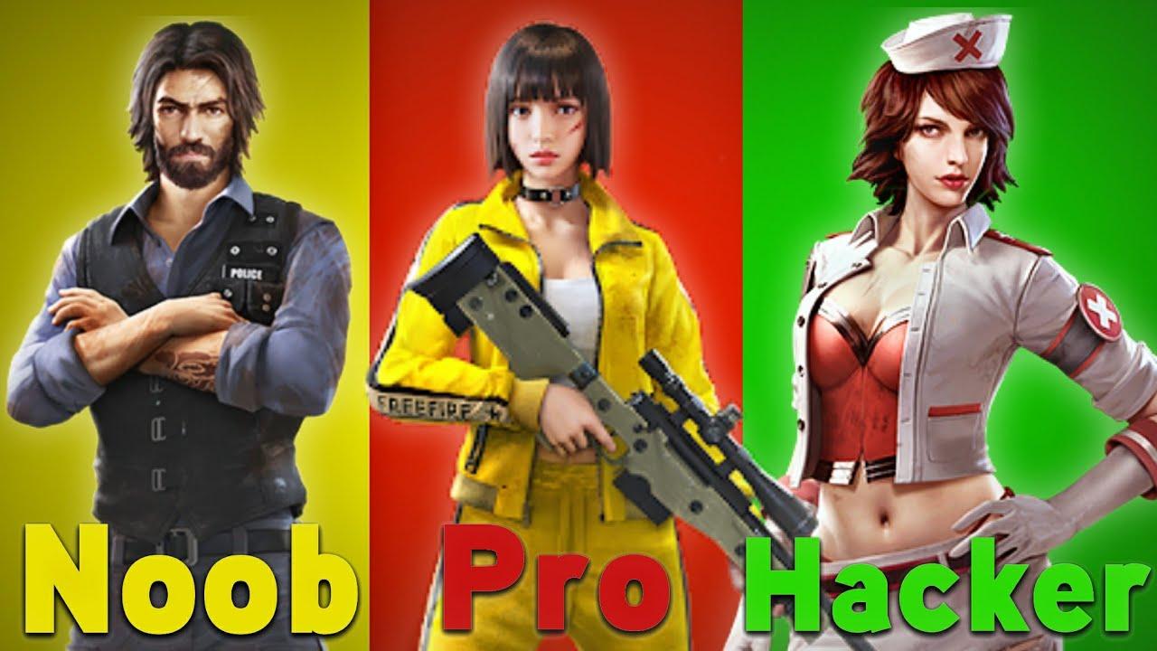 Noob Vs Pro Vs Hacker - Free Fire Battlegrounds