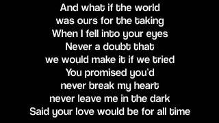 When You Were Mine- Lady Antebellum (Lyrics)