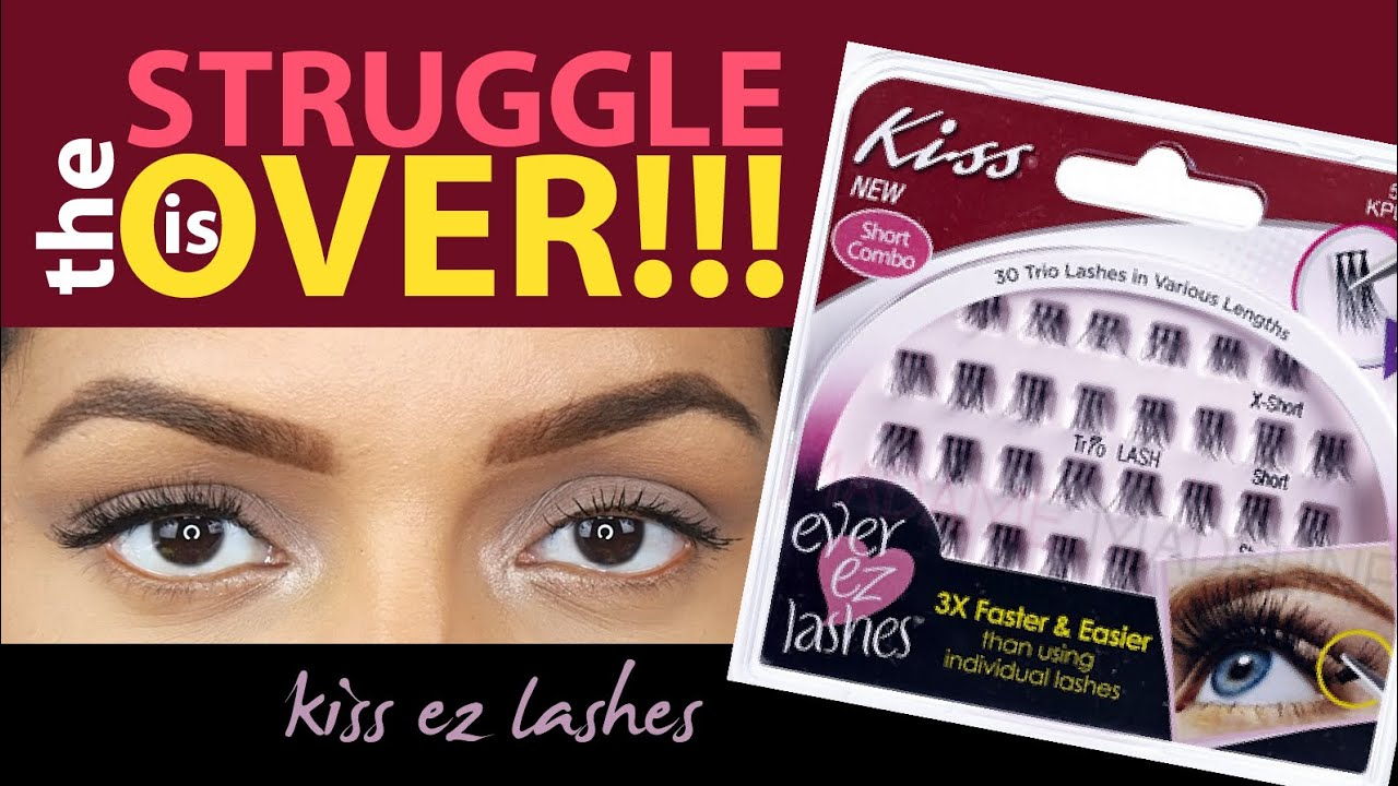 8db356d5a37 How To: Apply Kiss Ever EZ False Lashes - EASIEST WAY TO PUT ON LASHES!  PERIOD!!!
