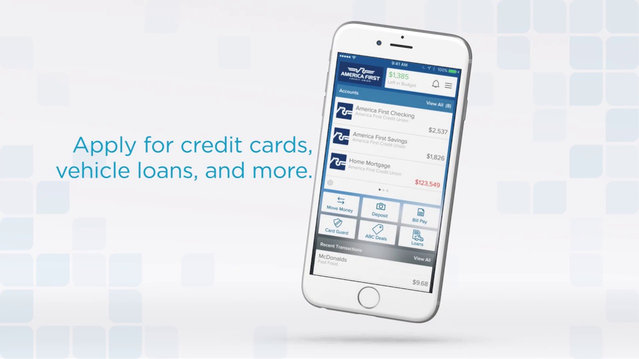 Free Android iPhone Mobile Banking - America First Credit Union