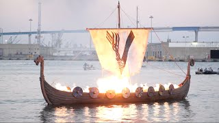 viking funeral lights up the san diego bay ign access