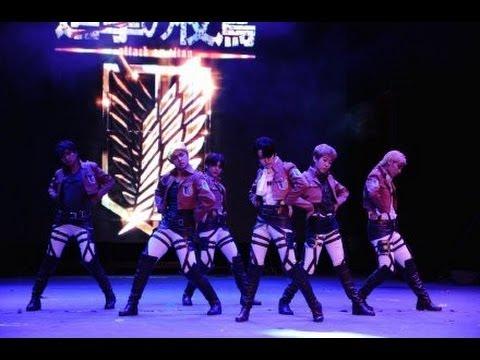 Attack on titan cosplay dance