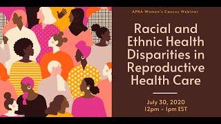 Women's Caucus Health Webinar Series: Critical Issues in Women's Caucus Webinar 3
