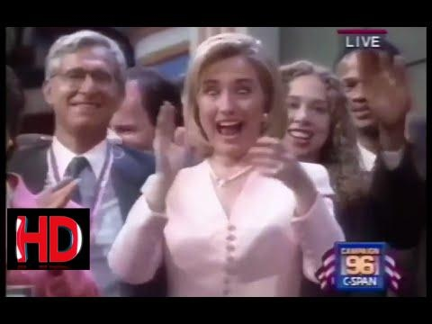 donald trump 2017 -Hillary Clinton Macarena Dance From 1996 DNC