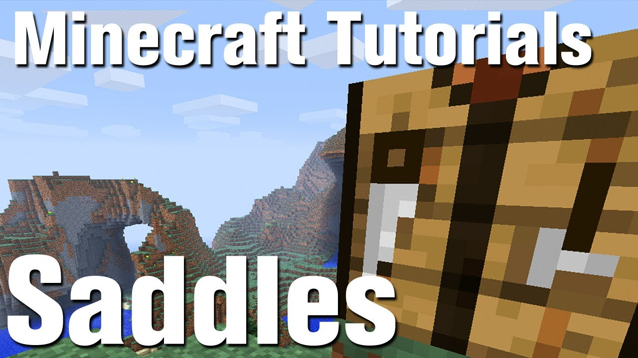 Minecraft Tutorial How To Make A Saddle In Minecraft Youtube