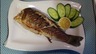 Рыба Сибас на гриль сковороде (Лаврак, морской окунь, морской судак)