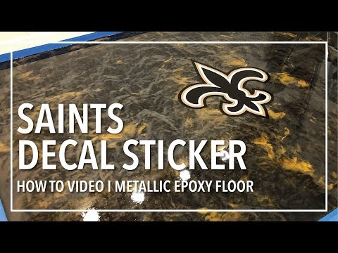 Epoxy Floor With Decal Sticker - How To - Check it out!