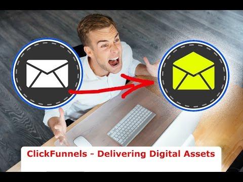 ClickFunnels Digital Assets - How to upload and deliver! ✉