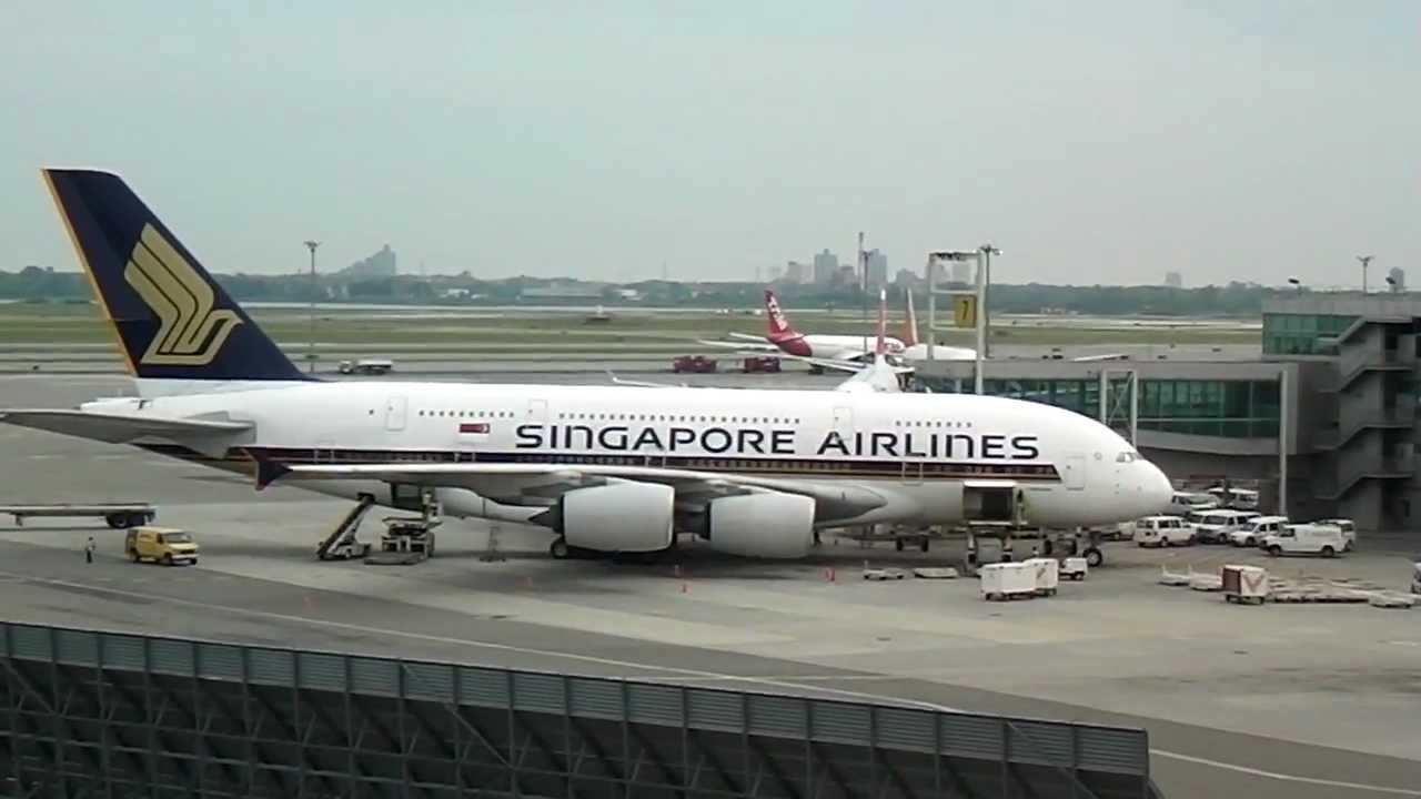 Singapore airlines a380 airbus at jfk terminal 4 by jonfromqueens youtube - Singapore airlines office ...