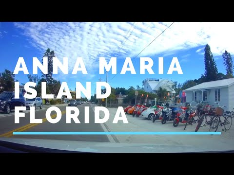 Drive from Anna Maria Island to Bradenton Beach Florida