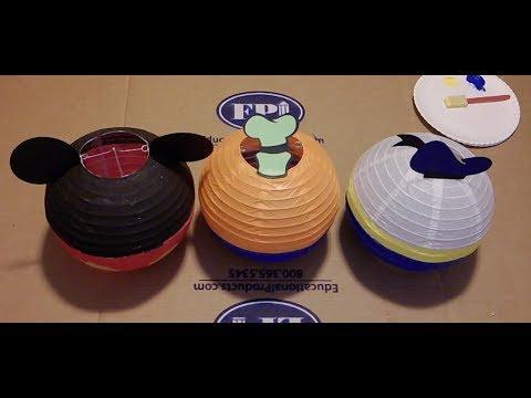 DIY Mickey and Friends Lanterns