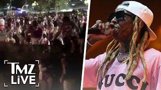 Lil Wayne Concert: Chaos After 'Shots Fired' | TMZ Live
