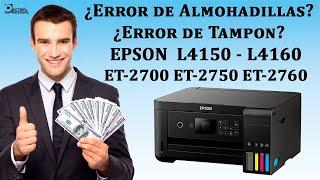Epson L4150 L4160 Tampon necesita repararse, Reset Almohadillas Han llegado al Final De Su Vida Útil