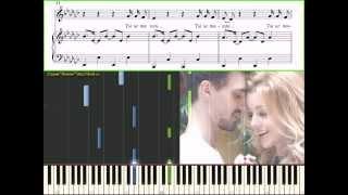 Караулова - Ты не такой (Ноты и Видеоурок для фортепиано) (piano tutorial)
