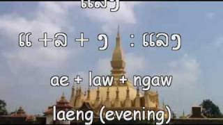 Learn to read and speak Lao - eat drink
