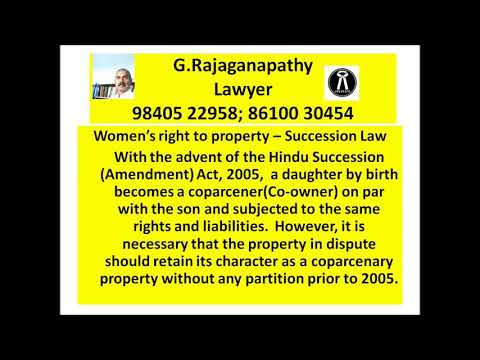 Women's right to property - Succession Law