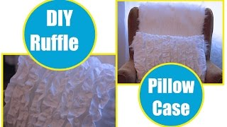 How to sew a Ruffle Pillow Case