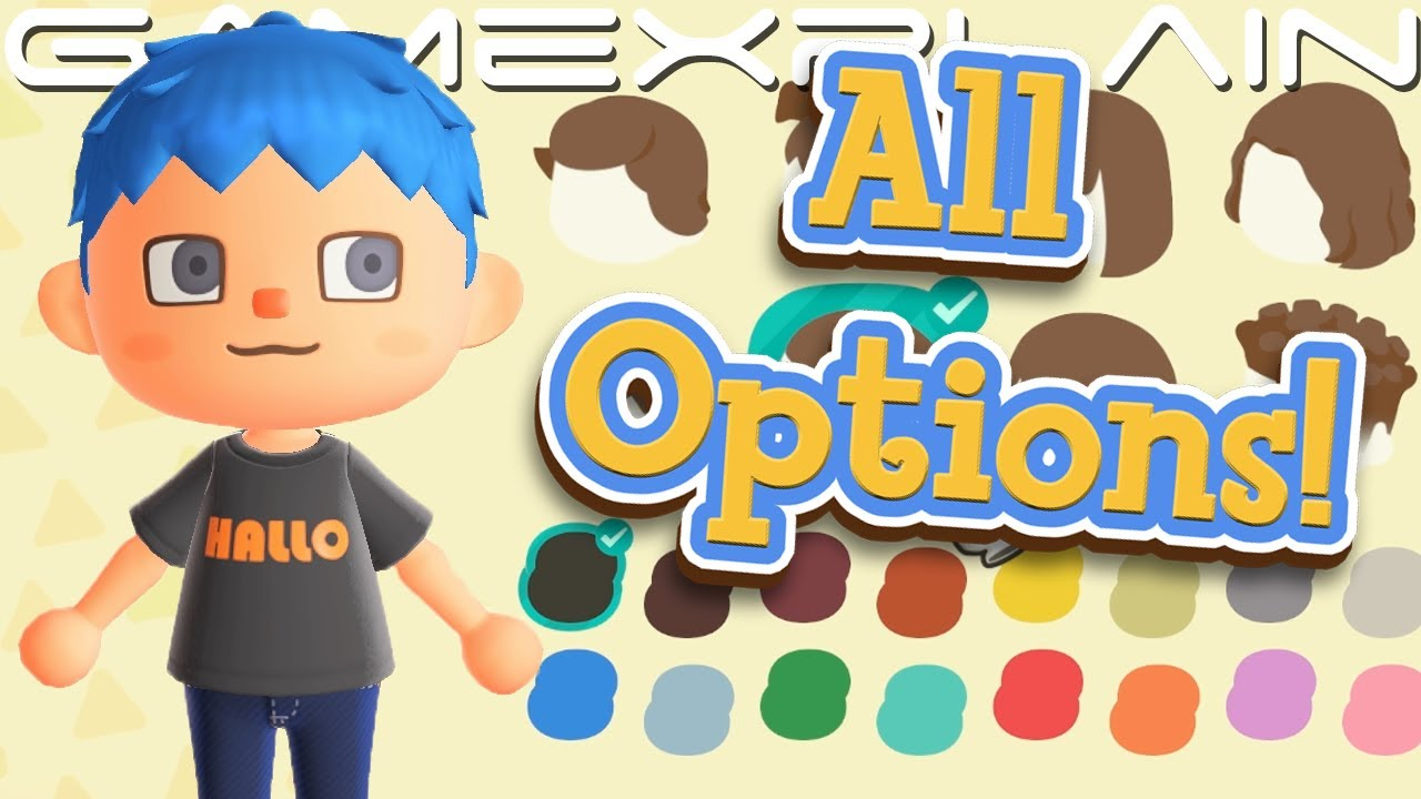 All Villager Hair Face Customization Options In Animal Crossing