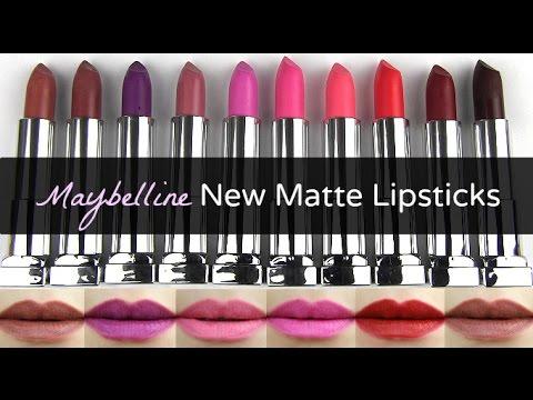 Maybelline New Color Sensational Creamy Matte Lip Colors Lip