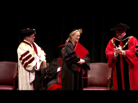 Meryl Streep Receives Honorary Degree From Indiana University