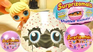 HATCHIMALS SURPRISE EGGS OPENING & SURPRIZANIMALS WITH MISS LANA