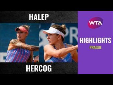 Download Simona Halep vs. Polona Hercog   2020 Prague First Round   WTA Highlights